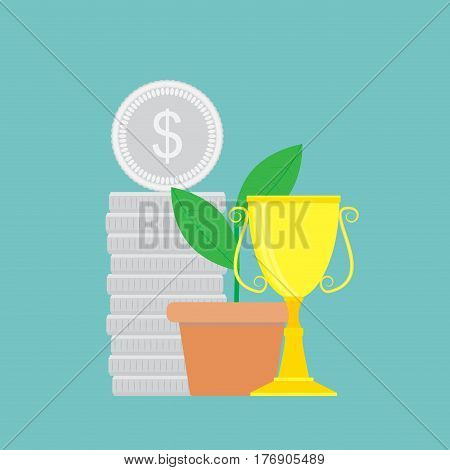Successful finance vector. Success idea and investment stock illustration