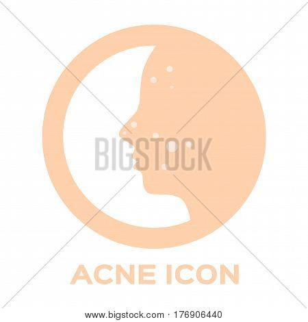 acne and pimple icon . vector . white background
