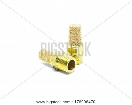 Pneumatic Silencer Isolated On White.