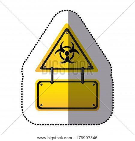 yellow metal biohazard warning notice sign icon, vector illustration design