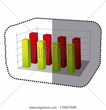 color data statistic graphics concepto, vector illustration design