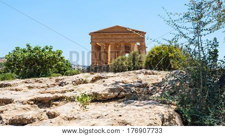 Valley Of The Temples With Temple Of Peace, Sicily