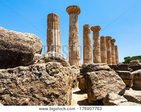 Ancient Temple Of Heracles (tempio Di Eracle)