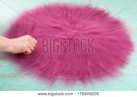 Hatter Spreads The Second Layer Of Wool Fibers