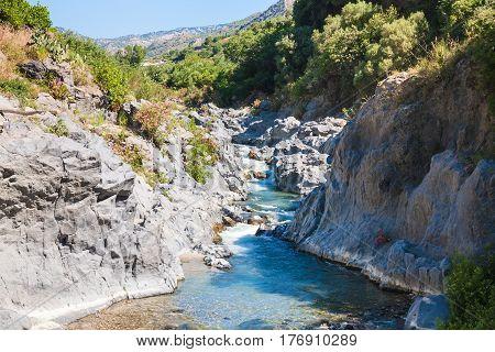 Alcantara River In Sicily