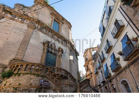 Baroque Style Church And Urban Houses