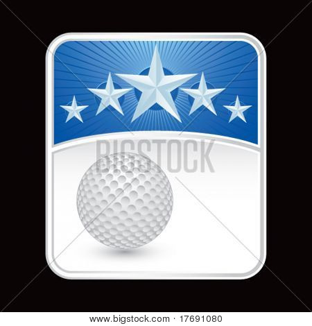 golf ball on superstar background
