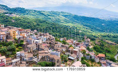 Urban Houses Of Castiglione Di Sicilia Town