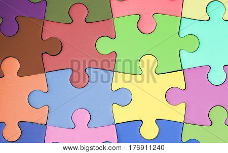 jigsaw puzzle with colored pieces. hope. solidarity.