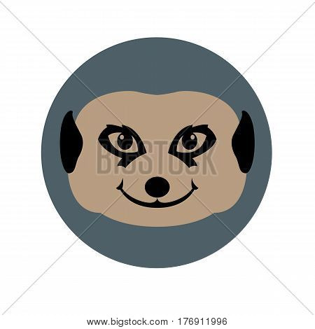 Gopher  head face   vector illustration style Flat