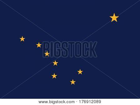 The Official vector flag of Alaska .