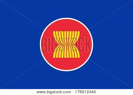 Official vector flag of ASEAN ( Association of Southeast Asian Nations ) . poster