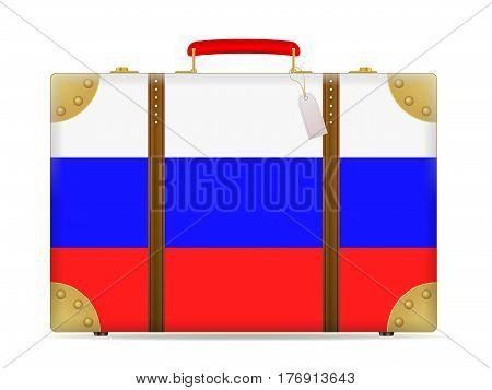 Russia Flag Travel Suitcase