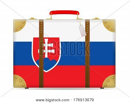 Slovakia Flag Travel Suitcase