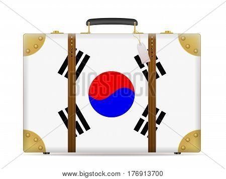 South Korea Flag Travel Suitcase