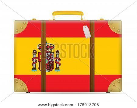 Spain Flag Travel Suitcase