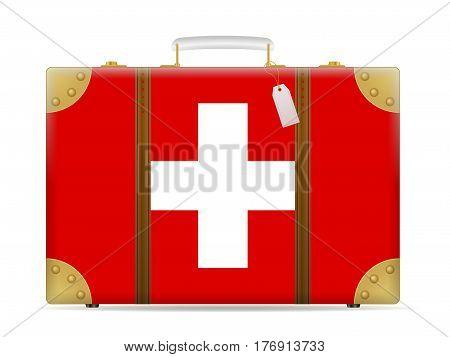 Switzerland Flag Travel Suitcase
