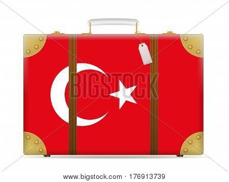 Turkey Flag Travel Suitcase