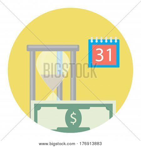 Time is money icon. Finance capital time for salary vector illustration