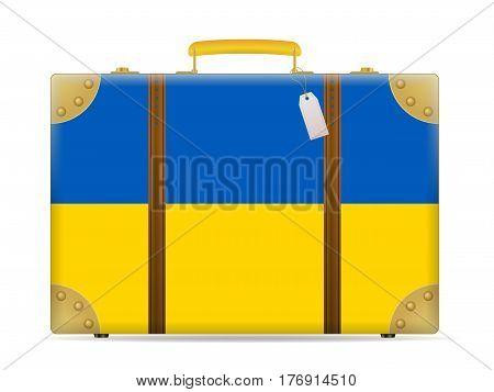 Ukraine Flag Travel Suitcase
