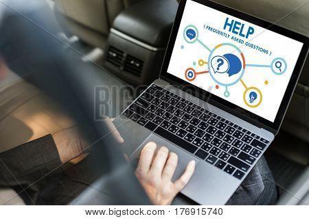 Help Assitance Service System Icon