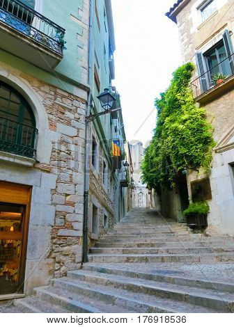 Old town of Pals in Girona, Catalonia at Spain.