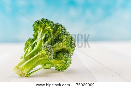 Broccoli Florets With Copy Space On Right
