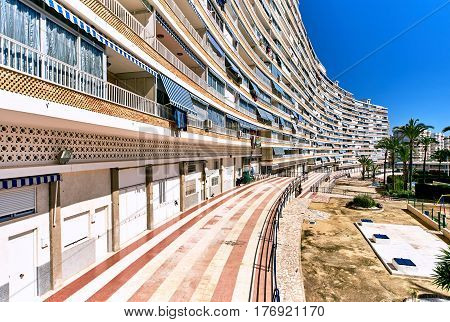 High-rise building of San Juan de Alicante. Costa Blanca. Spain
