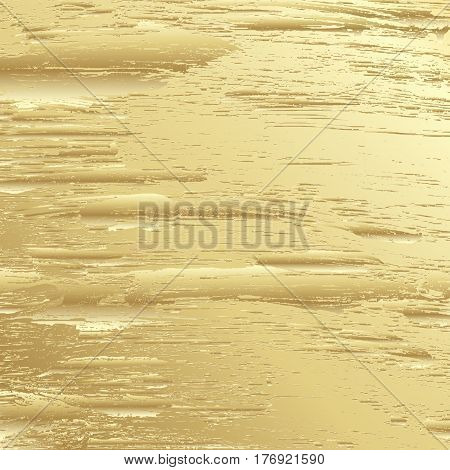 Golden background with stains and spots. Vectot illustration