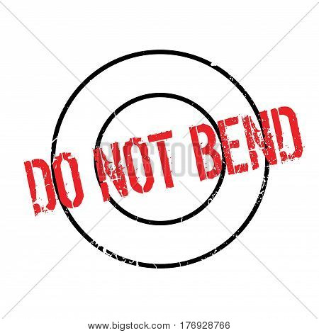 Do Not Bend rubber stamp. Grunge design with dust scratches. Effects can be easily removed for a clean, crisp look. Color is easily changed.