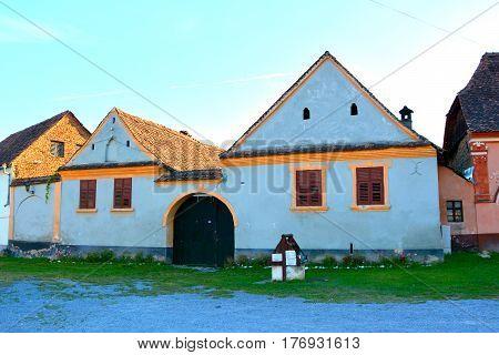 Typical saxon house in the village Avrig, Transylvania, Romania.
