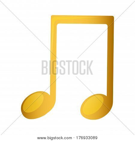 musical note in golden with background white vector illustration