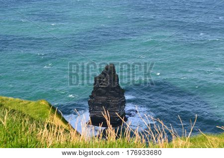Ireland's Needle located just off the Cliff's of Moher.