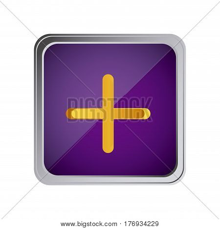 button volume plus with background purple vector illustration