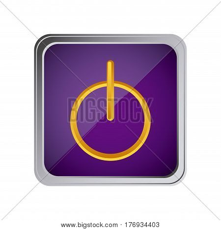 power button icon with background purple vector illustration