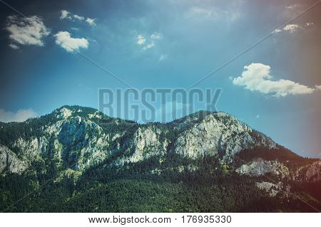 Photo Of Splendid View Of Beautiful Mountain On The Wonderful Sky Background