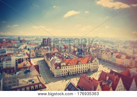 Photo Of Wonderful View Of Beautiful Wroclaw On The Clear Sky Background