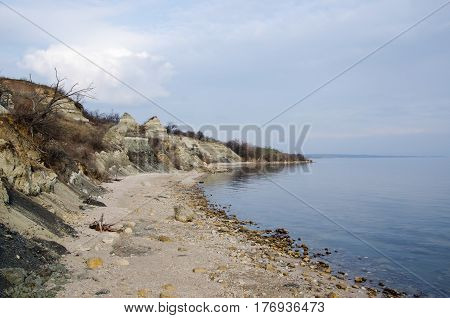 sea shore in a clear spring day