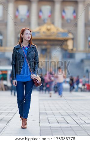 Beautiful Young Woman Exploring The Town