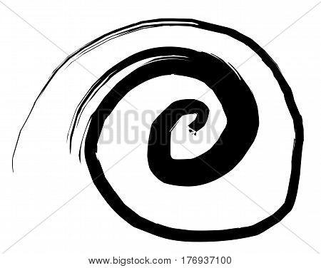 Sketchy vortex vector illustration sketchy ink sign