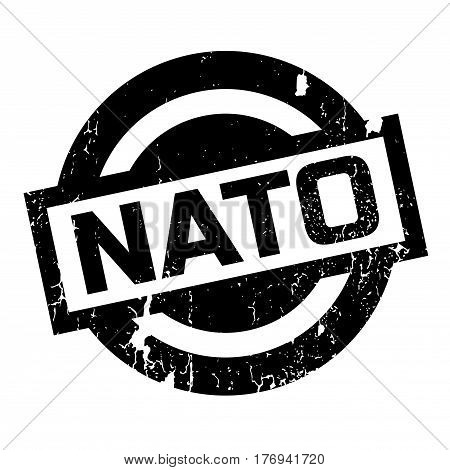 Nato rubber stamp. Grunge design with dust scratches. Effects can be easily removed for a clean, crisp look. Color is easily changed.