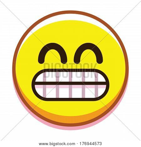 Vector Smiling Face Isolated On White Background