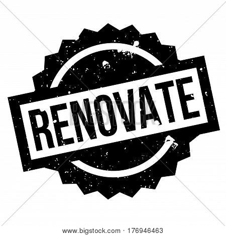 Renovate rubber stamp. Grunge design with dust scratches. Effects can be easily removed for a clean, crisp look. Color is easily changed.