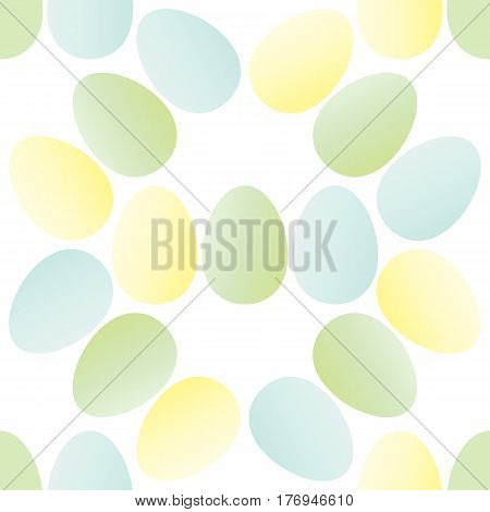 Seamless pattern of Easter eggs in pastel tones