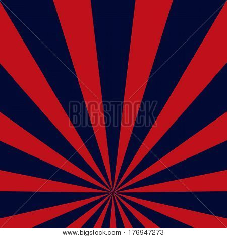 Retro dark blue and red sunburst style abstract background
