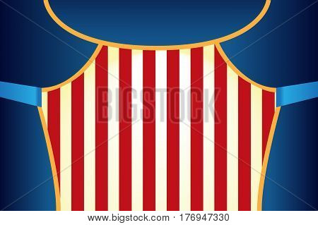 Circus show poster template. World Circus Day vector illustration