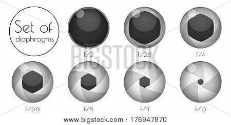 Set the 3d lens aperture on a white background