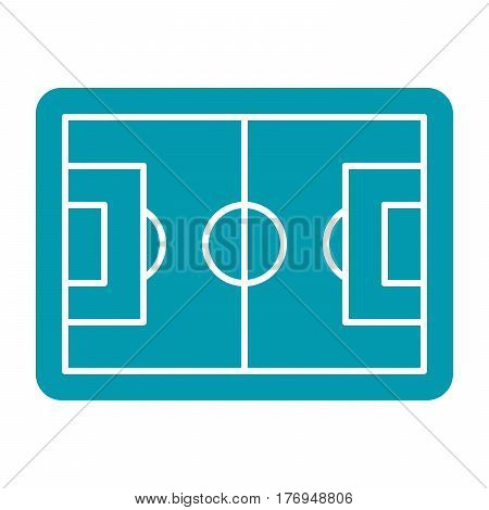 Football pitch, football field or soccer field, vector illustration in flat design