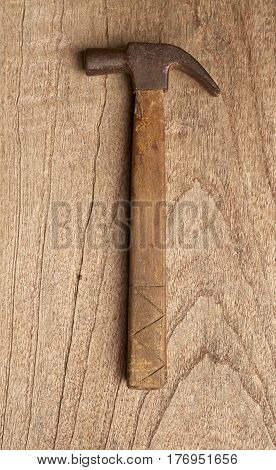 Hammer on wood background, hammer, floor, nobody