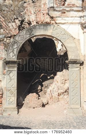 Ruins Of The Recoleccion Church At Antigua